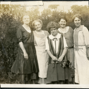 Five Women in Front of the Wolf Pens [Photograph]